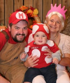 We went with a Mario theme Danny was Mario I was the princess and our little guy was a Power Up Mushroom.  sc 1 st  Real Honest Mom & Awesome Homemade Halloween Costume Ideas - Real Honest Mom